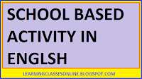school based activity practical teaching report in enlish free download pdf