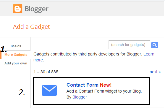 How To Add Blogger Contact Form In A Separate Page?