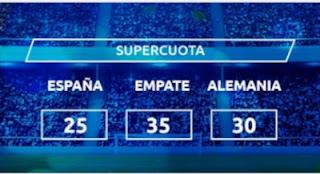 Mondobets supercuota España vs Alemania 17 noviembre 2020