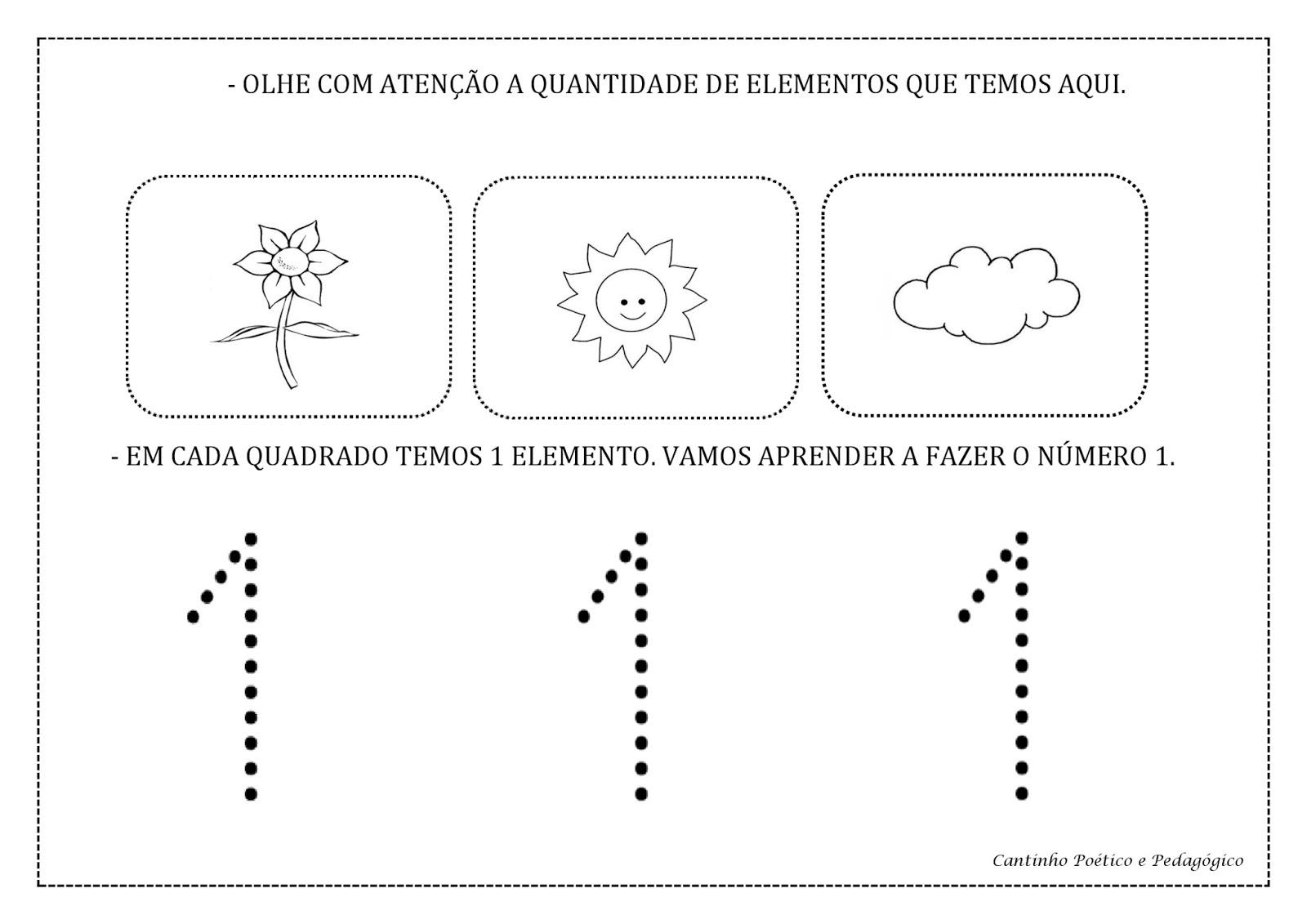 Super Cantinho Poético e Pedagógico : ATIVIDADES COM NUMERAIS DE 1 A 5. RF77
