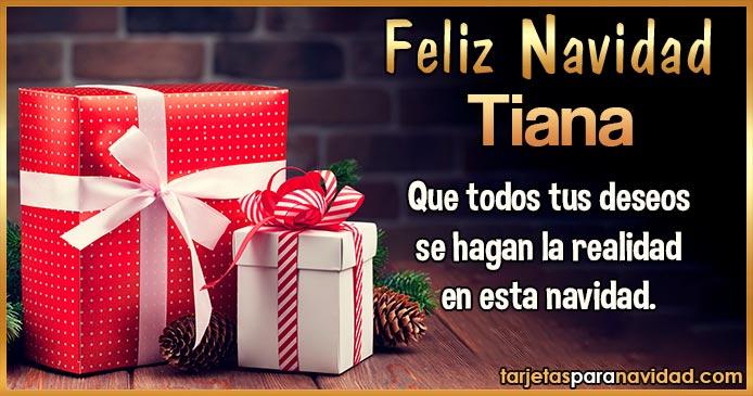 Feliz Navidad Tiana