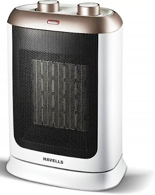 Havells Calido PTC Fan Heater 2000 W – White and Gold | Best Havells Room Heaters Reviews in India