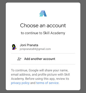 Mendaftar Skill Academy via aplikasi