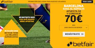 betfair supercuota Napoles v Barcelona 8-8-2019