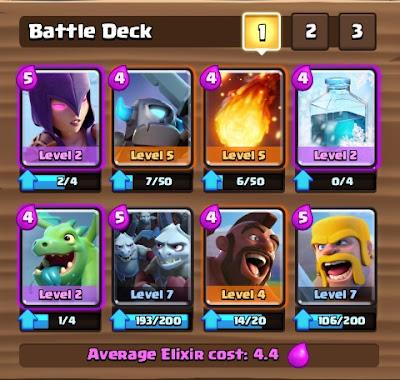 Deck Clash Royale Arena 4