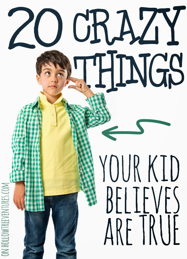 20 crazy things your kids believes are true - and I bet YOU used to believe them, too! by @RobynHTV #parenting #humor