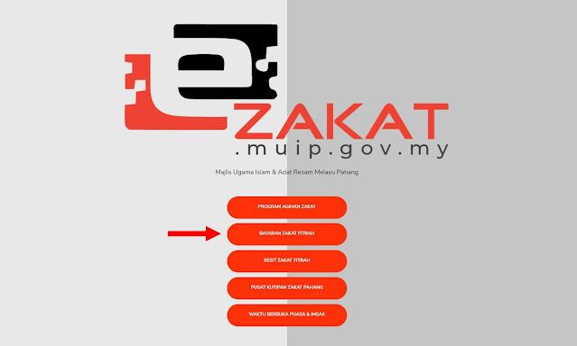 Cara Buat Bayaran Zakat Fitrah Online Menggunakan eZakat MUIP Pahang