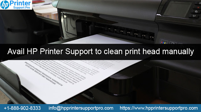 Avail HP Printer Support to clean print head manually