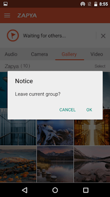 Features of Zapya apk for android