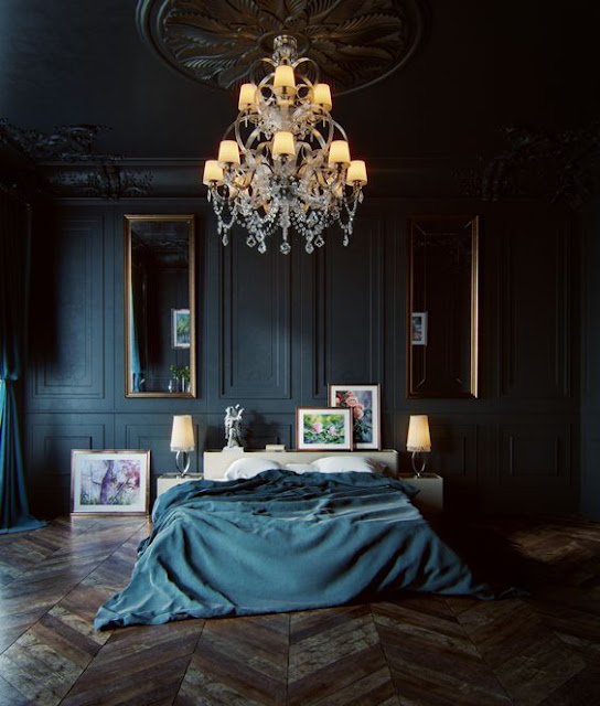 Siyah cesur yatak odası