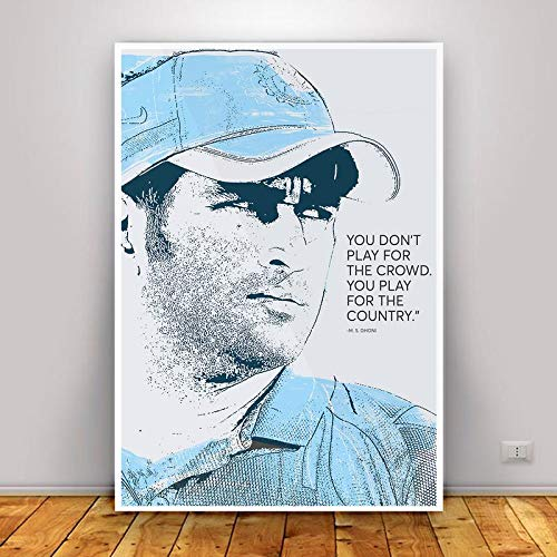 Ms Dhoni Wall Poster