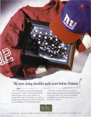 NFL Throwbacks Collection promotional ad