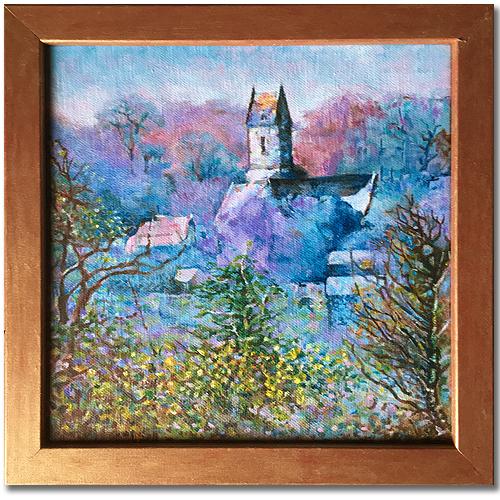 Montaigu la Brisette painting