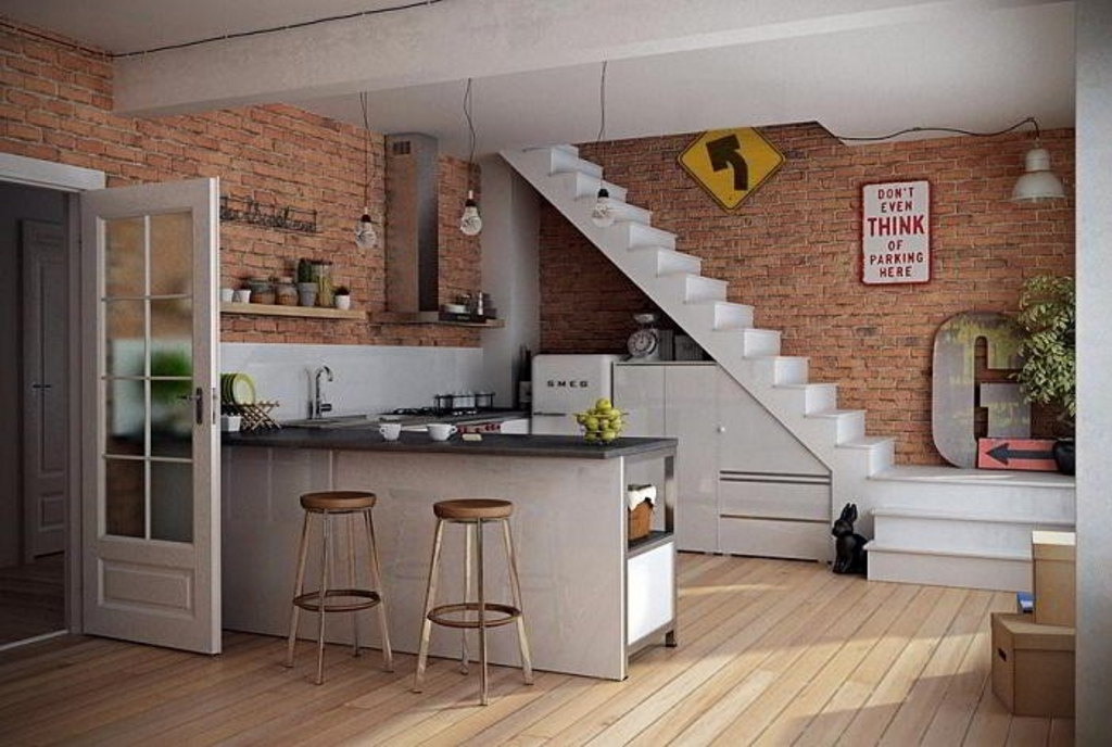 kitchen set dengan meja bar 2