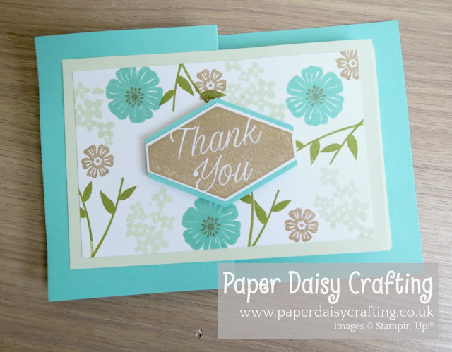 Beautiful Bouquet double z fold card by Stampin Up
