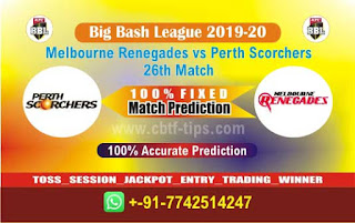 Who will win Today BBL T20, 26th Match Perth vs Renegades - Cricfrog