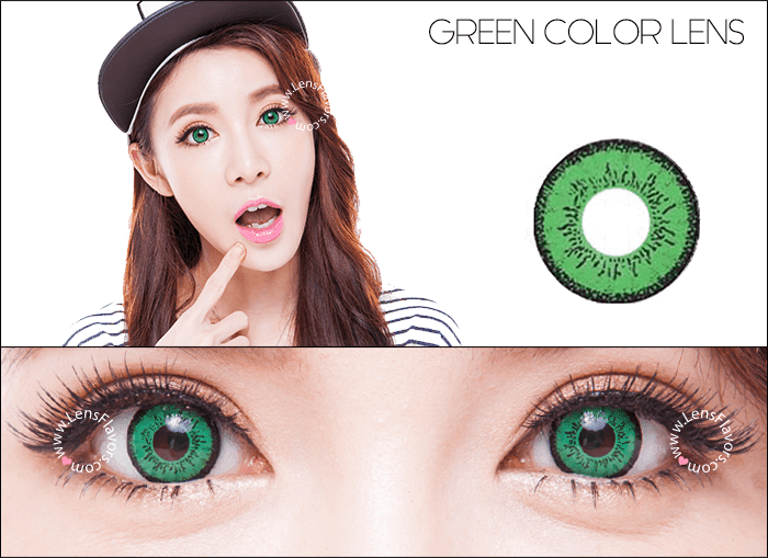 eos dolly eye green circle lenses