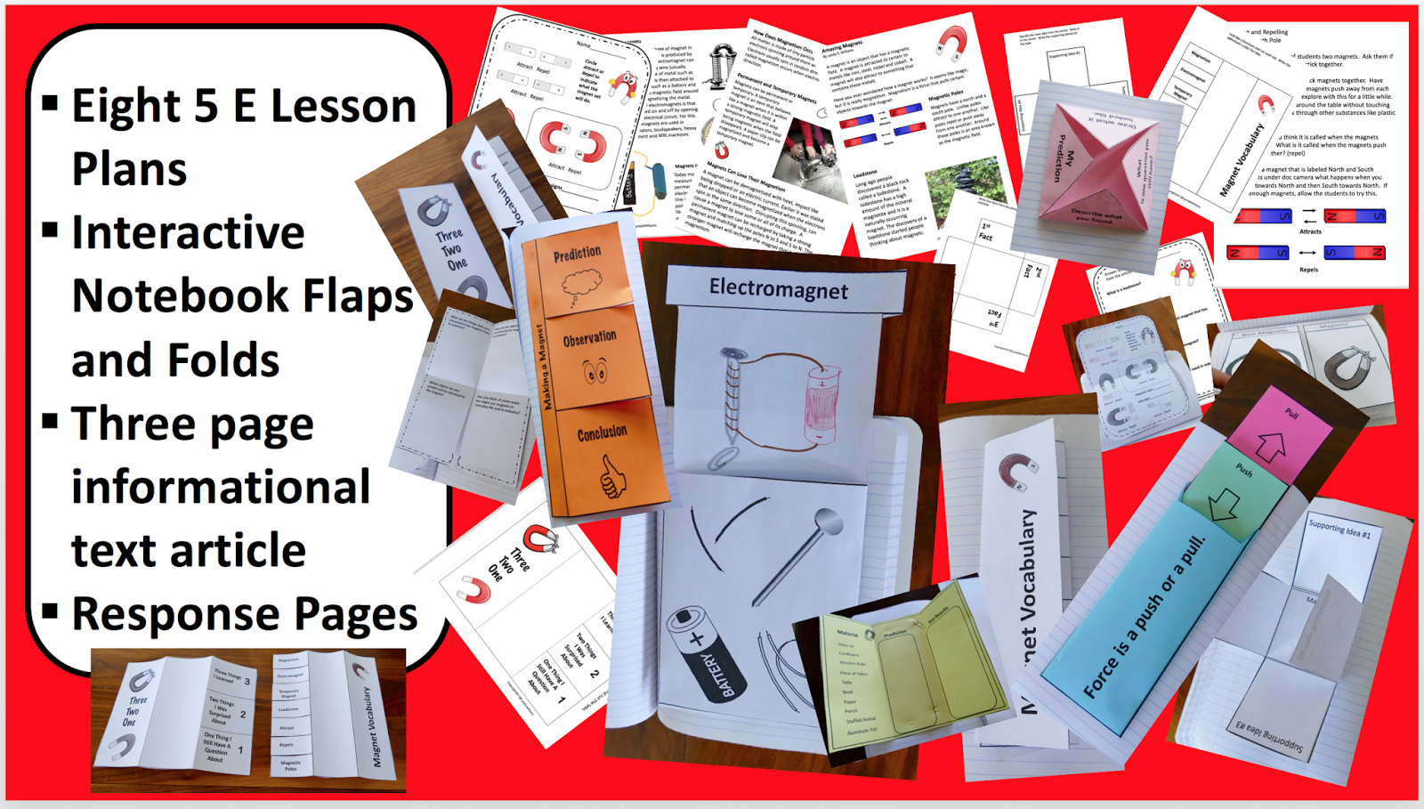 Teaching Science With Lynda Magnets And Interactive Notebooks Ngss Fun Squishy Circuits Notebook Ideas The Lessons Include What Items Attract To A Magnet Attracting Repelling North South Pole Reading Informational Text Lesson