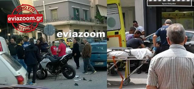 Χαλκίδα: Αυτοκίνητο παρέσυρε και τραυμάτισε πεζό στη Λεωφόρο Χαϊνά (ΦΩΤΟ)