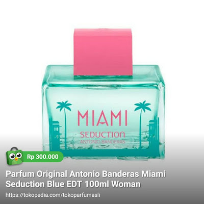 antonio banderas miami seduction blue edt 100ml woman