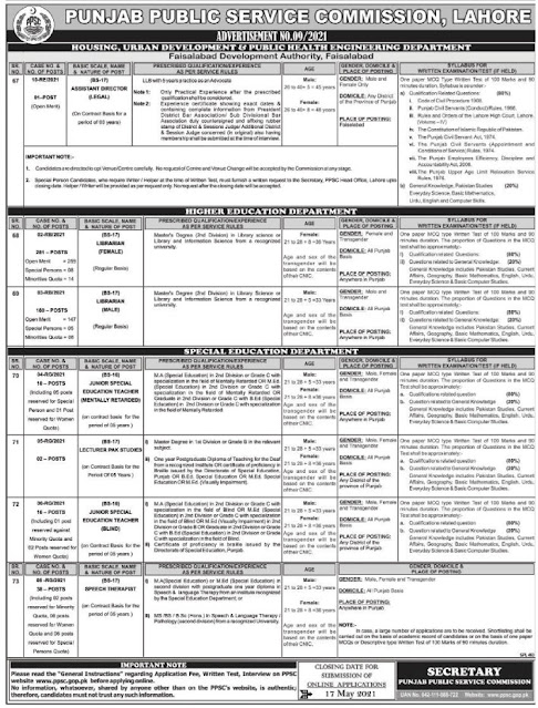 PPSC Punjab Public Service Commission Jobs 2021 Jobs in Pakistan 2021 Jobspk14.com