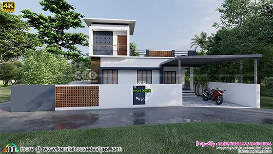 Front elevation design of a contemporary home