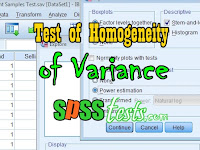 How to Levene's Statistic Test of Homogeneity of Variance Using SPSS