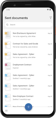 Screenshot Zoho Sign - Apcoid