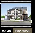 Desain Perumahan Townhouse Cimahi 7x10 Meter