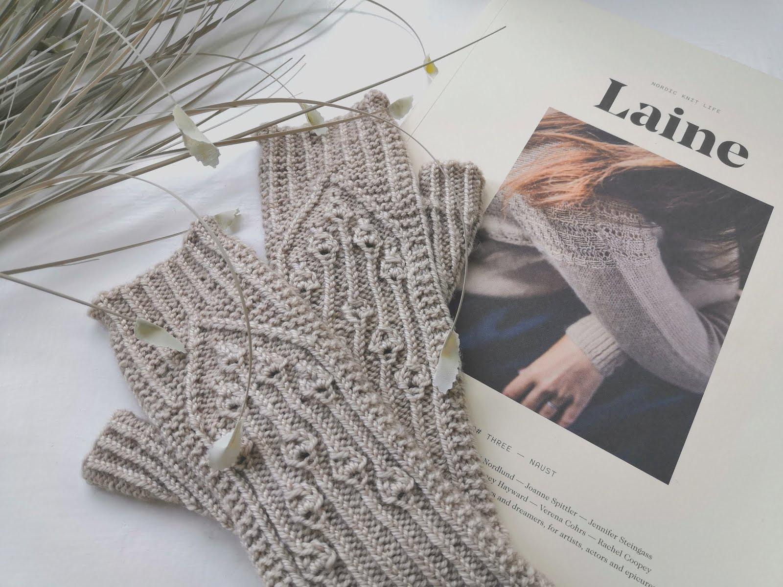 Virva Fingerless Mitts from Laine Magazine