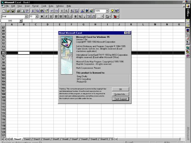 Microsoft-Excel-95-(v7.0)