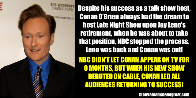 Success Stories From Famous People Who Failed Before Succeeding: Conan O'Brien