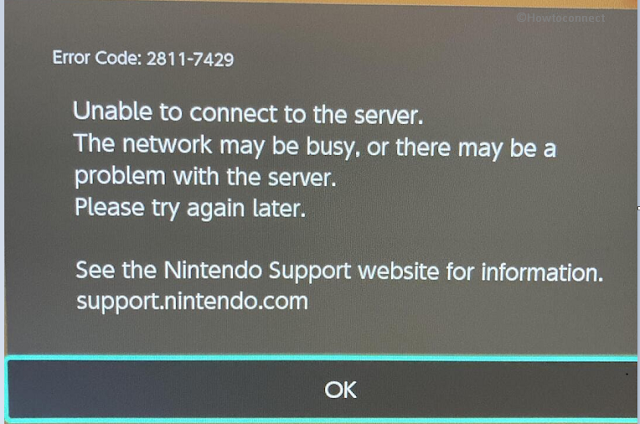Fix Nintendo Error Code 2811-7429 and 2813-0002
