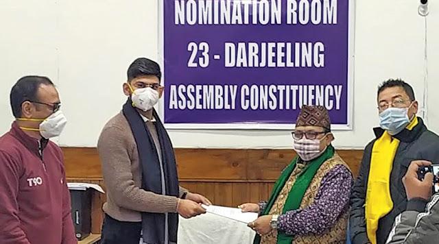 Neeraj Zimba files his nomination