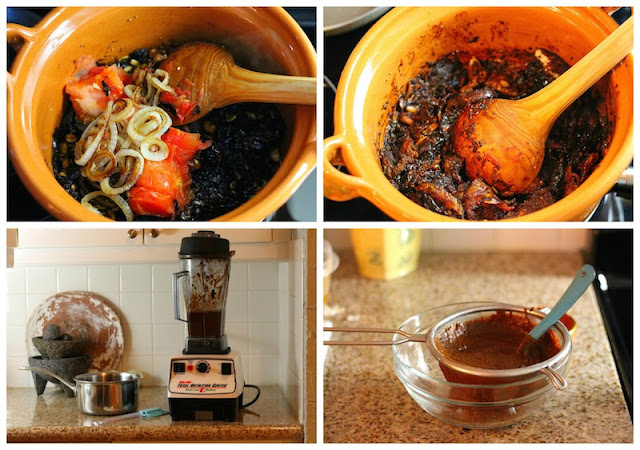 Mole Poblano recipe, enjoy this traditional recipe with a step by step photo tutorial.