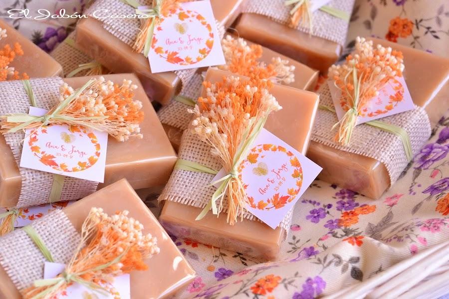 Jabones para bodas detalles naturales para invitados