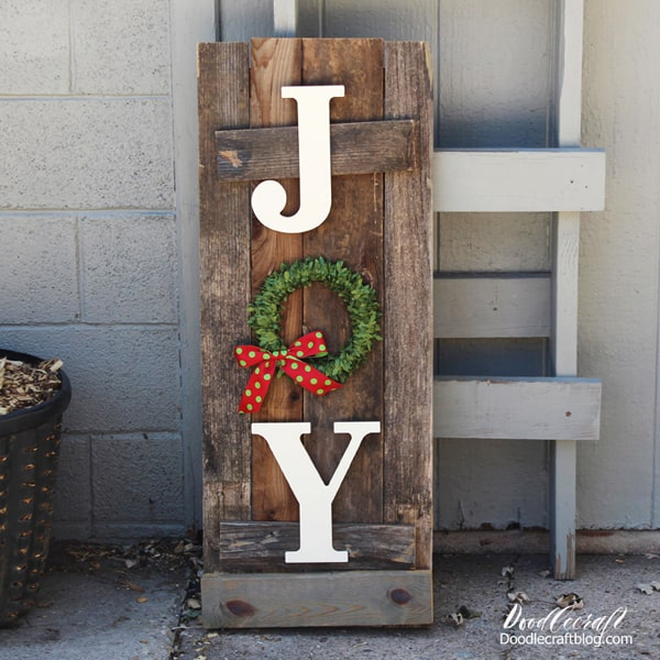 JOY Slat Porch Sign