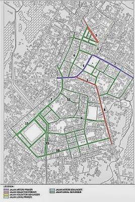 Contoh Peta Jaringan Jalan