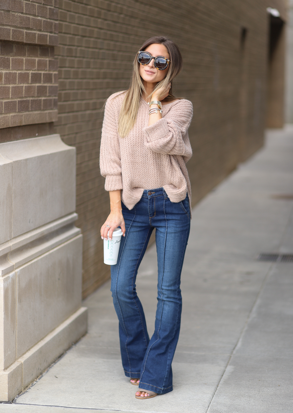 walmart dreamers by debut taupe v-neck pullover sweater