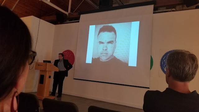 Campello discussing Ric Garcia's work