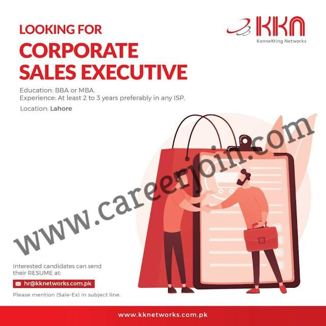 KK Networks Pvt Ltd Jobs Corporate Sales Executive 2021