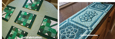 clover placemats and celtic knot runner