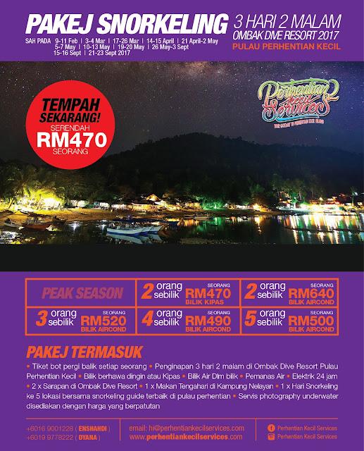 Ombak Resort Pulau Perhentian Kecil 2017 , Pakej Pulau Perhentian 2017