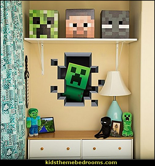 Minecraft Wall Decal Set   minecraft bedroom ideas - minecraft bedroom decor