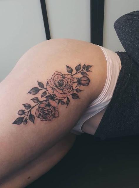 thigh tattoo women