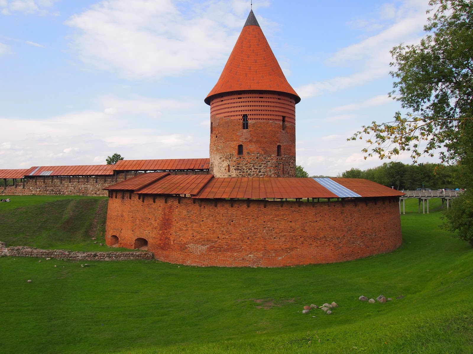 The remains of the oldest stone castle in Lithuania