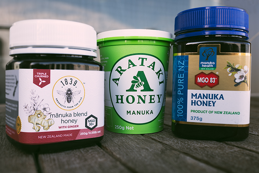 Manuka honey, a New Zealand product with a reputation for health and great flavour.