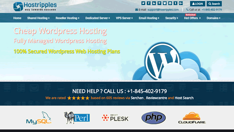 Hostripples offers one of the cheapest WordPress web hosting