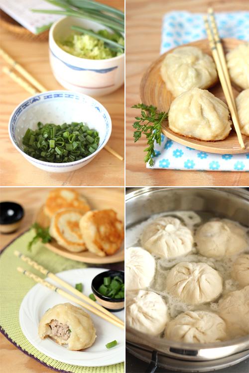 tajwańskie bułeczki z patelni nadziewane mięsem