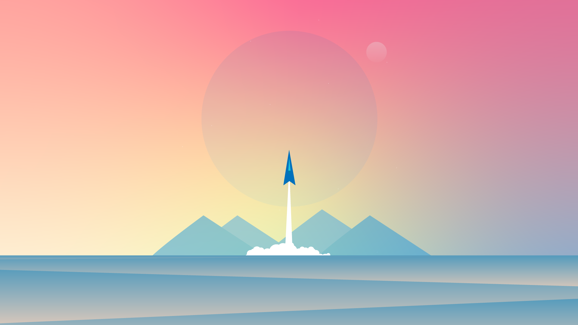 cool desktop wallpaper 4k minimalistic rocket launch